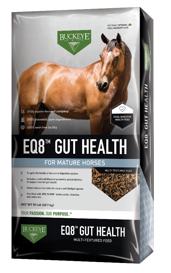 EQ8™ GUT HEALTH Textured Horse Feed | BUCKEYE™ Nutrition