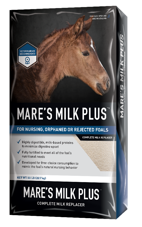 MARE'S MILK PLUS™ Powdered Milk Replacer package